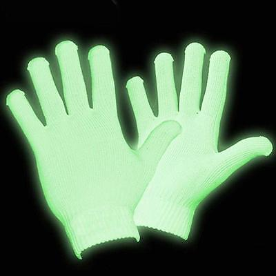 Glow In The Dark Gloves for Festivals, Rave, Fancy Dress, Luminous Gifts Hot! B