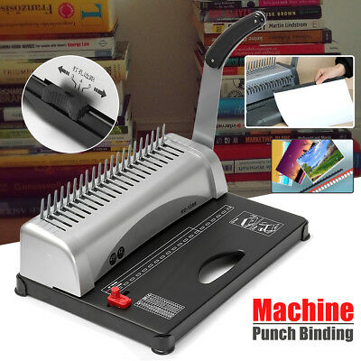 21 Hole 450 Sheet Paper Comb Punch Binder Binding Machine Scrapbook Professional