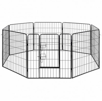 Dog Playpen Crate Fence Puppy and Pet Exercise Cage Kennel 8 Panel