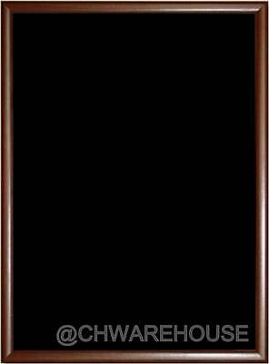 "24"" x 36"" Magnetic Black Chalk Board Dark Tone Wood Frame & Reinforced Backing"
