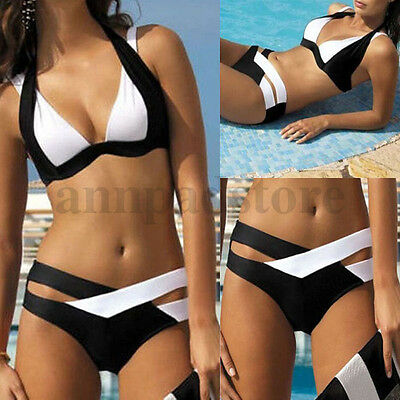 Hot Women Monokini Bikini Set Bandage Push-Up Bra Swimwear Swimsuit Bathing Suit