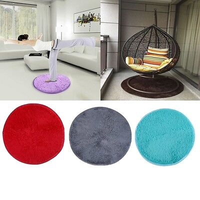 Shaggy Fluffy Rugs Anti-Skid Area Rug Room Home Bedroom Carpet Round Floor Mat