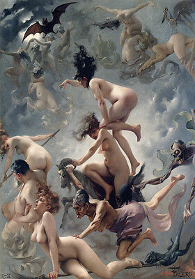 Witches Sabbath Pagan Wicca Luis Ricardo Falero Painting Quality Canvas Print