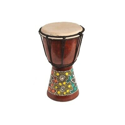 Djembe Drum Bongo Africa Wood painted Drum Ring Instrument Music Dot Painting