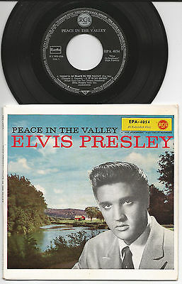 "Elvis Presley 7"" 45 EP Peace In The Valley D 1960/1961 Press"