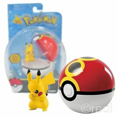 New Pokemon Clip 'n' Carry Angry Pikachu Figure & Repeat Poke Ball TOMY Official