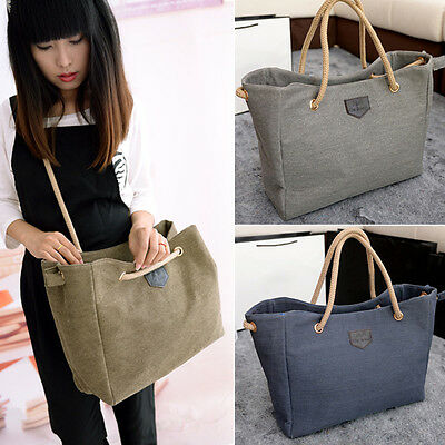 Fashion Women Canvas Shoulder Bag Satchel Tote Handbag Purse Messenger