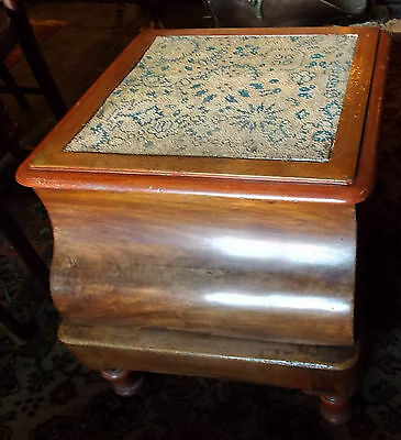 Antique Victorian pull-out STEP BOX COMMODE mahogany quirky coffee table?