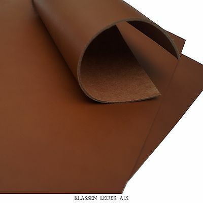 Buffalo leather Cognac 2,5 mm Thick A3 Croupon Brown Real Cowhide LARP 84