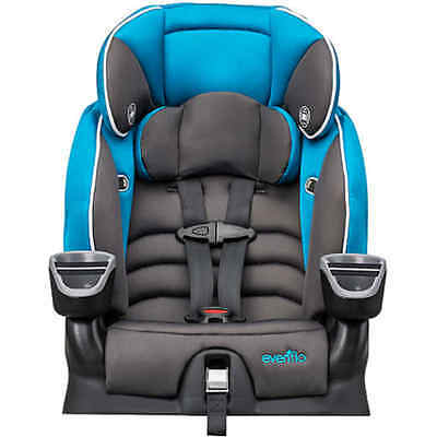 Evenflo Maestro Harnessed Booster Car Seat, Thunder Baby Blue
