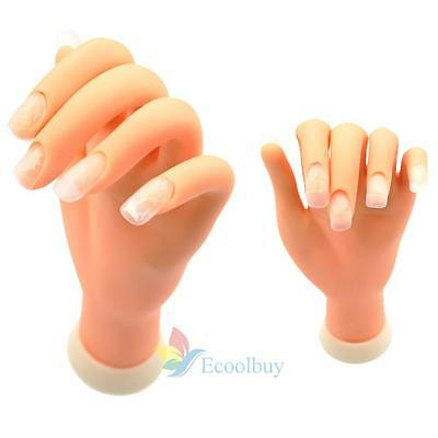 Adjustable Practice Nail Art Tips Trainer Training Fake Finger Model Hand Tool