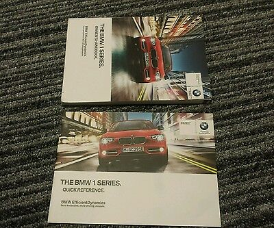 2011 2012 BMW F20 F21  iDRIVE Owners Handbook Manual Book quick reference