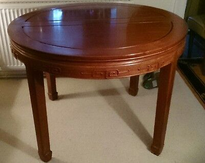 Chinese round solid rose wood table