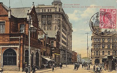 AK-Johannesburg-Simmonds Street-showing National and Robinson Banks-gel.1912