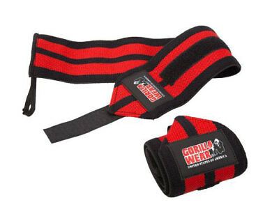 Gorilla Wear Wrist Wraps Pro Black / Red Weight Lifting Training Accessories