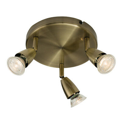SAXBY AMALFI 3 Way Decorative GU10 LED Compatible Steel Adjustable Ceiling Light