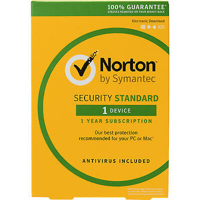 Symantec Norton Security Standard 1 User 1 Device - Authorised Norton Reseller