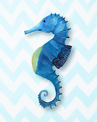 Cici Art Factory Nautical Seahorse Giclée Canvas Art