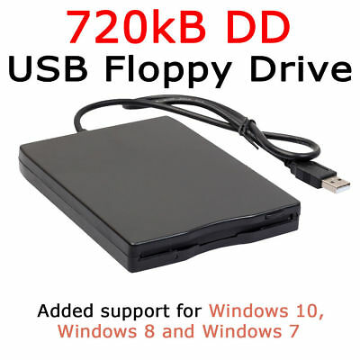 "Portable 3.5"" inch 720KB DD Diskettes USB External Floppy Disk Drive"