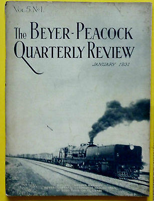 BEYER PEACOCK Qrtly Review April 1931 VOL 5 No.1