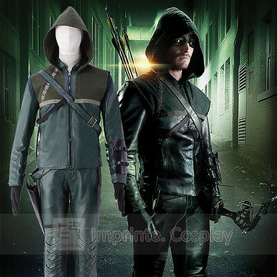 Green Arrow Oliver Königin Cosplay Kostüm Vollständiges Set