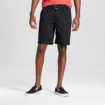 Men's Belted Flat Front Chino Shorts with Stretch - Mossimo Supply Co.™