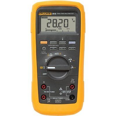 Fluke 28-II Industrial Multimeter. Measures up to 1000V AC and DC, 10A.