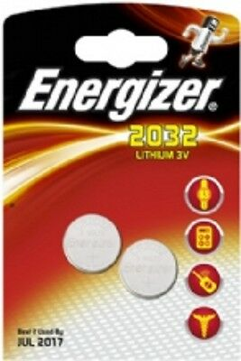 2 x ENERGIZER CR2032 3V LITIO A MONETA CELLE Batteria 2032
