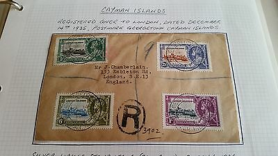 Cayman Islands 1935 Sg 108-111 Silver Jubilee  Cover