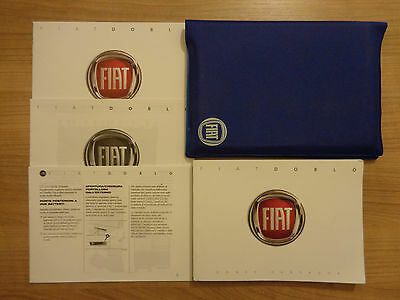 Fiat Doblo Owners Handbook/Manual and Wallet 10-17