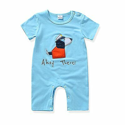 Miniowl Kids Baby Boys Girls Romper Jumpsuit Short Sleeve Bodysuits Outfits bl