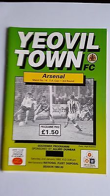 Yeovil Town V Arsenal 2.1. 1993 - FA Cup 3rd Round