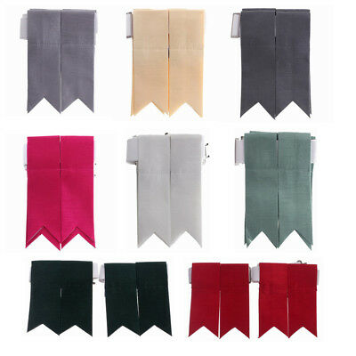 New Scottish Tartan Kilt Hose Shantung Flashes with Garters in 20 + Colours