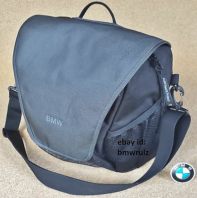 Genuine BMW Care Travel Carry Handbag Shoulder Strap Bag Seal & Protect BLACK