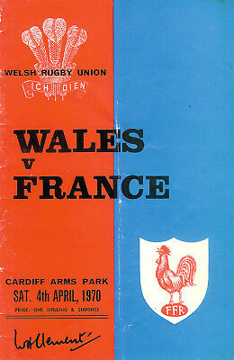 WALES v FRANCE 4 Apr 1970 RUGBY PROGRAMME at CARDIFF - cqoncr