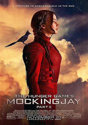 Hunger Games MockingJay - A4 Glossy Poster -TV Film Movie Free Shipping #448