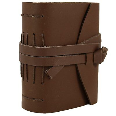 Leather Blank Vintage Journal Notebook Diary Sketchbook with Strap Tie Small