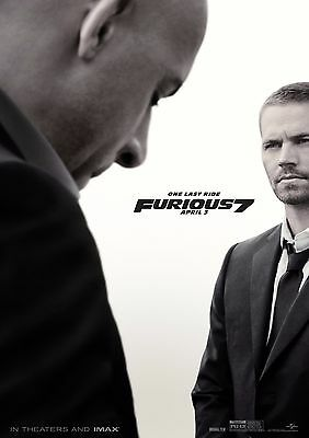 Furious 7 - A4 Glossy Poster -TV Film Movie Free Shipping #460
