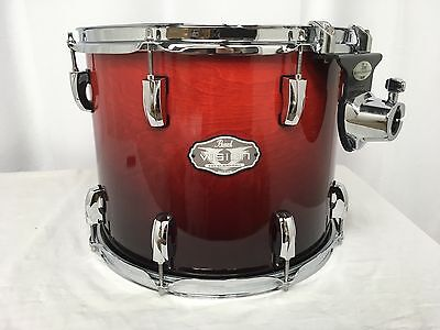 "Pearl Vision VBX 14"" Diameter Mounted Tom/Birch Shell/#232/Ruby Fade/Brand New"