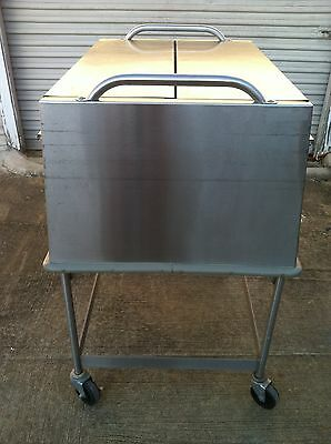 Shelleymatic Tray Dispenser Enclosed Mobile Tray Cart W/ Compartment Trays
