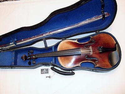 Beautiful old German Stradivari copy  good playing order & condition case & bow