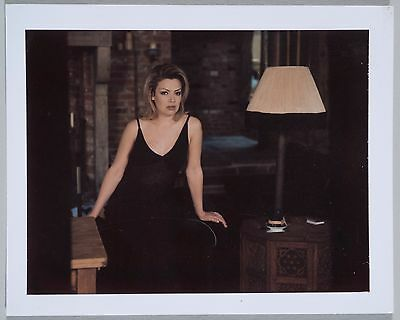 Original Polaroid of Kim Wilde from Hello at home shoot 1996