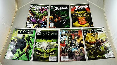 Job Lot Marvel World War Hulk Comics. Gamma Corps. X Men Incredible Hulk US MINT