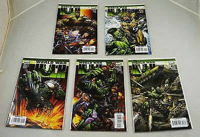 Job Lot/Collection/Set of Marvel World War Hulk Comics. Incredible Hulk US MINT