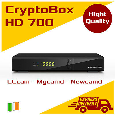 AB CryptoBox 700 HD 1GHz CPU IPTV FullHD CR LAN USB PVR HDTV Satellite receiver