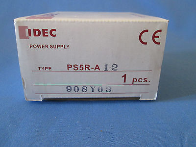 IDEC Power Supply PS5R-A12 100-240 AC In 12VDC Output Adjustable Rated at 7.5W