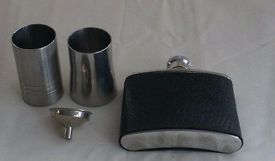 50ml Thimble Measure x2 / Hip Flask & Funnel Stainless Steel