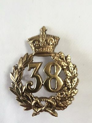 Cap Badge 38Th South Staffordshire Regiment Of Foot Glengarry (1869 - 1881)