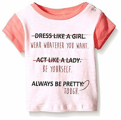 Rosie Pope Little Girls Be Yourself Tee, Rose, 18 Months
