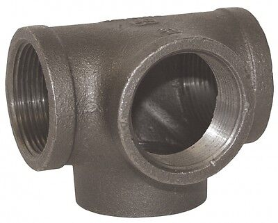 """1-1/4"""" Side Outlet TEE BLACK MALLEABLE IRON fitting pipe npt"""